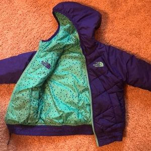 Reversible girl winter jacket
